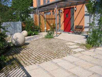 vorgarten mit stellplatz gestalten mischungsverh ltnis zement. Black Bedroom Furniture Sets. Home Design Ideas